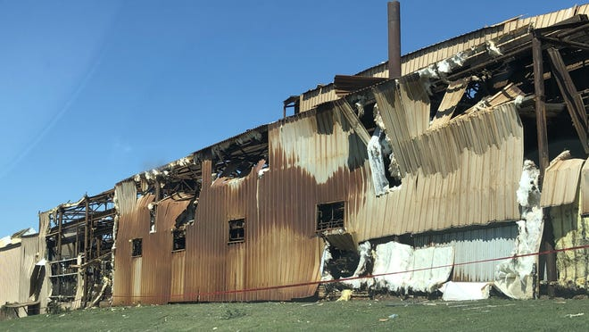 The Oklahoma Steel and Wire plant in Madill sustained extensive damage from an April 22 tornado. Employees are currently working to restore the plant piece by piece.