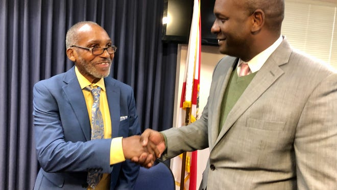 The highest-profile bill (SB 28) will compensate Clifford Williams, left, who was sent to prison for a 1976 murder, including serving a stint on Death Row, before being cleared last year.