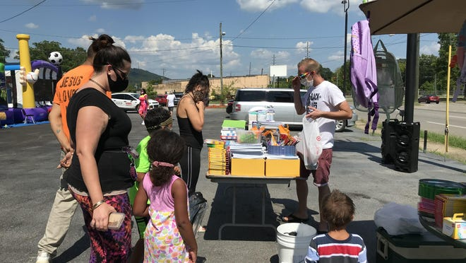 Families came out Friday afternoon to enjoy food, fun and to get free school supplies, courtesy of Black Lives Matter Gadsden and donors.