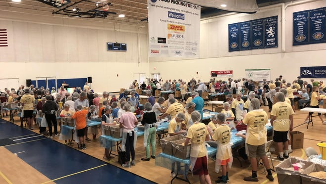 St. Mark's Episcopal Church & School is looking for 500 volunteers to pack 75,000 meals for hungry children Feb. 1 as part of its Food Packing for Haiti program.