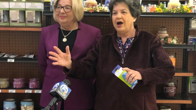 U.S. Rep. Lois Frankel, right, with her 2020 State of the Union guest Annette Meyer of Ira's Discount Pharmacy on Feb. 3, 2020.