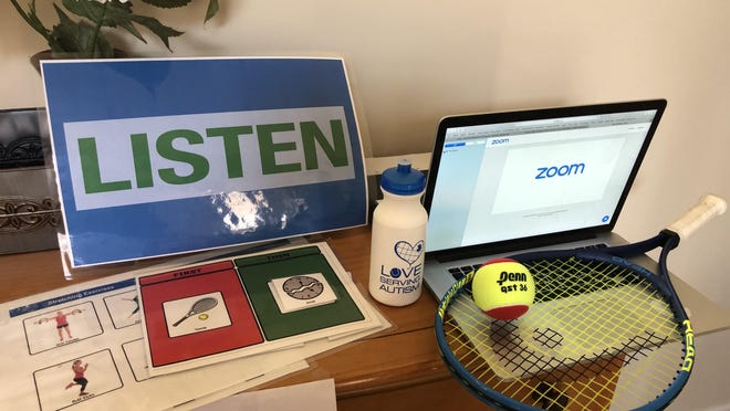 Love Serving Autism, a nonprofit organization that provides specialized therapeutic tennis instruction to children and adults with autism spectrum disorders, has switched to virtual instruction amid the coronavirus pandemic. The organization holds weekly sessions over Zoom.