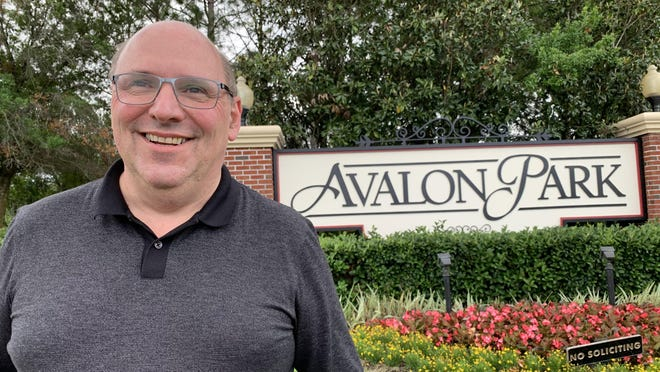 Avalon Park developer Beat Kahl, pictured on April 30, 2020, stands in front of a monument sign for the 5,000-home community he developed on 1,860 acres in East Orlando. On Tuesday, July 14, 2020, he completed his purchase of more than 3,000 acres west of Interstate 95 in Daytona Beach where he plans to break ground on a similar community that would have up to 10,000 homes and a 400-acre downtown.