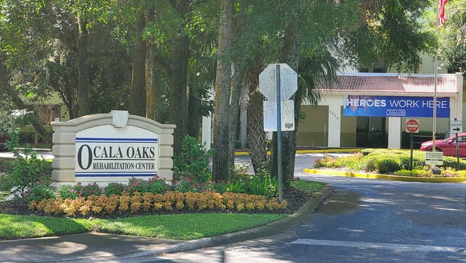 Ocala Oaks Rehabilitation Center is shown on Tuesday morning. The facility registered the highest number of COVID-19 cases among Marion County's long-term care facilities.