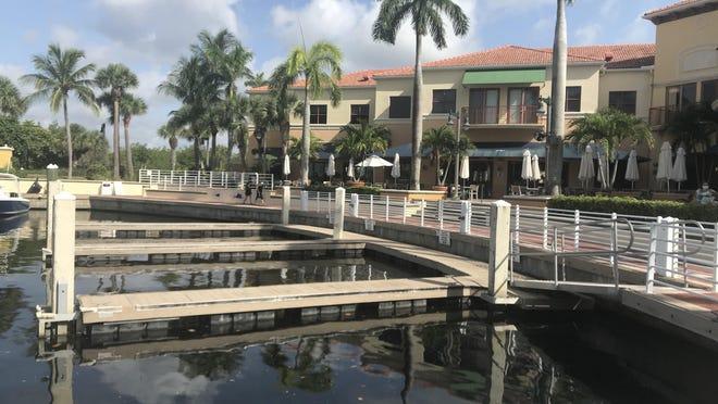 Public boat slips at Jupiter Yacht Club on July 3, 2020.