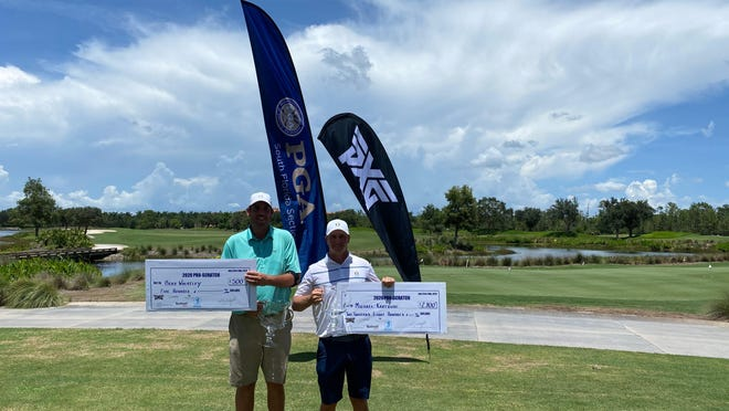 Michael Kartrude and amateur Brad Wheatley won the South Florida PGA Pro-Scrath Championship on Friday.