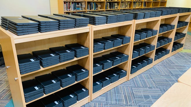 Streetsboro recently purchased more than 800 Chromebooks. The district now has enough inventory to assign every student their own device.