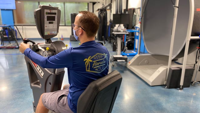 Greg, a 37-year-old corporate pilot from Boynton Beach, tested positive for coronavirus after a trip to a Las Vegas casino in June. He's still struggling with muscle fatigue and other symptoms, and has begun working out in an effort to alleviate them.