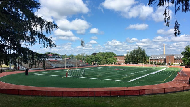 East Stroudsburg University's Eiler-Martin Stadium sits vacant on Wednesday, July 15, 2020. The Pennsylvania State Athletic Conference announced Tuesday all athletic competition is suspended through Dec. 31 due to the COVID-19 pandemic.