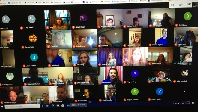 Mid-East Zanesville inducted 24 new members to the National Honors Society during a virtual ceremony.