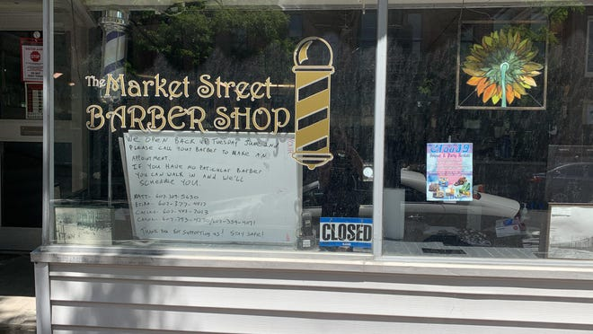 Market Street Barber Shop in Corning opens Tuesday -- by appointment only, for the first time in its history.