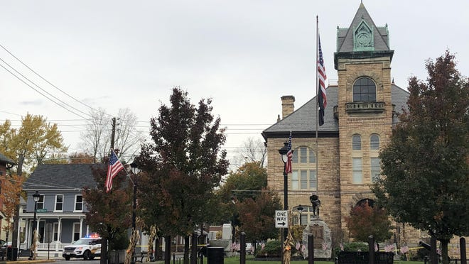 """Stroudsburg Borough Council is mulling whether or not the slogan """"Black Lives Matter"""" should be allowed to be painted on the road around Courthouse Square in Downtown Stroudsburg."""