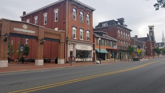 Downtown Waynesboro is pictured along Main Street. BEN DESTEFAN/THE RECORD HERALD