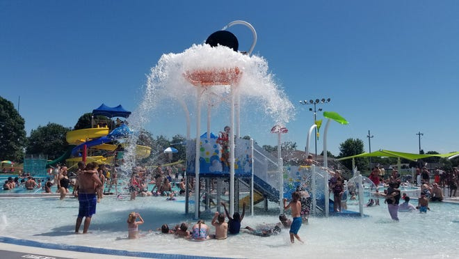 The Chambersburg Aquatic Center, which features multiple bodies of water and three slides, is reopening today.