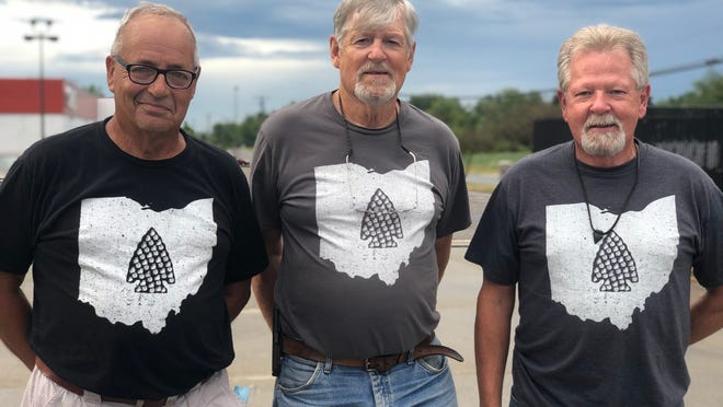 Paul Ravelli, Danny Myers and Steve Myers spend some of their free time hunting for arrowheads and other historic object in the Greater Alliance area.