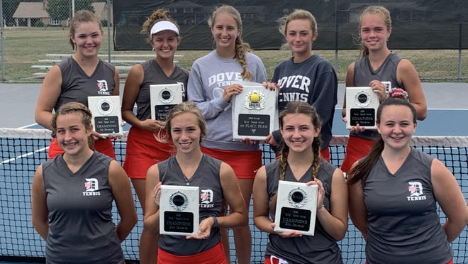 The Dover High School girls  tennis team won the Orrville Invitational on Saturday. Photo provided