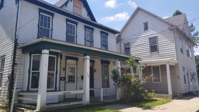 Franklin County has been approved for funding for a project in the Borough of Waynesboro to improve blighted properties at 242-244 and 246 W. Second St. BEN DESTEFAN/THE RECORD HERALD