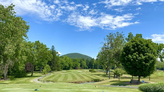 Blue skies and temperatures in the mid-80's made for a picturesque day at the Waynesboro Country Club Tuesday afternoon. JOHN IRWIN/ THE RECORD HERALD