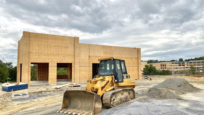 Construction on the new Starbucks location at 708 E. Main St. in Waynesboro continued this week. The 2,148-square-foot café will employ approximately 15-25 people and feature a drive thru. A date of completion is to be announced. JOHN IRWIN/ THE RECORD HERALD
