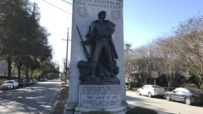 The Confederate Statue on Third Street in Wilmington is one that some have called to be taken down or relocated.