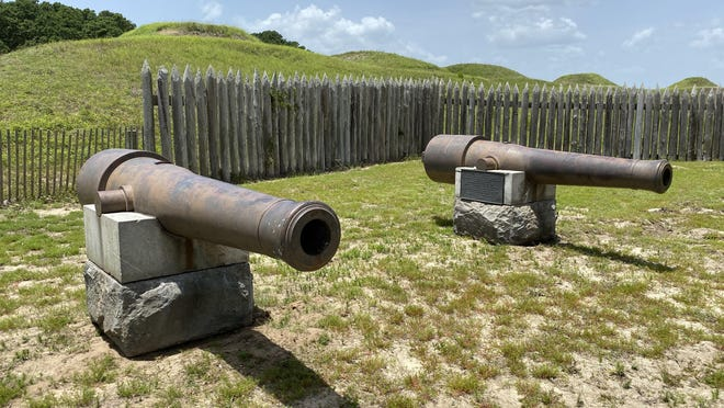 Two Civil War-era cannons, which have sat on the Old Capitol grounds in Raleigh since 1902, are now at Fort Fisher after Gov. Roy Cooper had them removed.