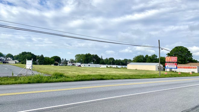 Pictured here is the 3.7 acre property located at 11898 Buchanan Trail East that will be the future home of Washington Township offices and the police department. JOHN IRWIN/ THE RECORD HERALD