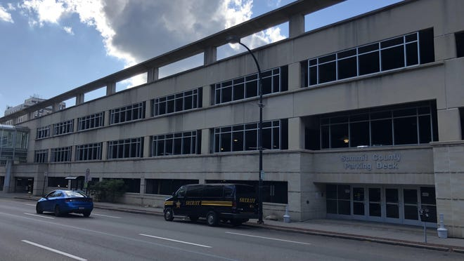 The Summit County Parking Deck is at 200 S. High St. in downtown Akron.