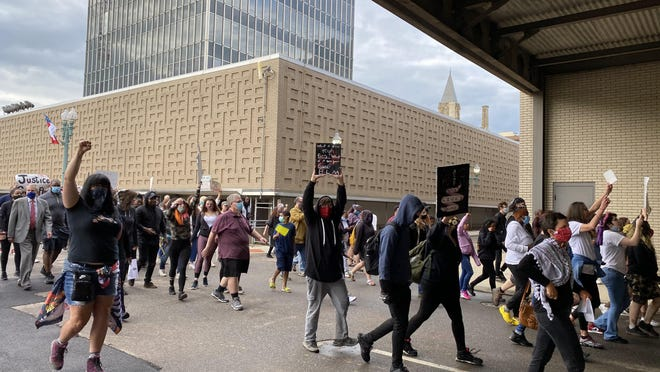 The May 29 protest in the downtown Canton area was peaceful until about a dozen people were arrested. The last of the cases in Canton Municipal Court tied to the arrests was resolved earlier this month. All of the cases involved misdemeanor charges.