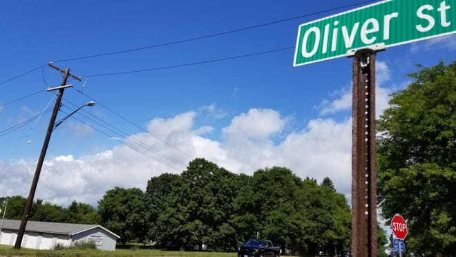 Critics of a proposal to build a Dollar General in Arkport say the Oliver Street entrance to the community athletic fields makes the proposed site, seen here across Route 36, problematic.