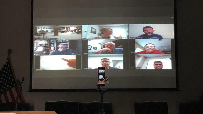 Greenwood had its monthly City Council meeting on Zoom Monday night.