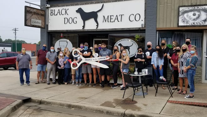 Black Dog Meat Co., a breakfast and lunch restaurant, and 479 Nutrition, held a ribbon cutting Thursday at 253 N. Broadway Ave. in Boonville. Black Dog reopened its dining room recently. The building is shared with 479 Nutrition, a healthy drink and eats shop.