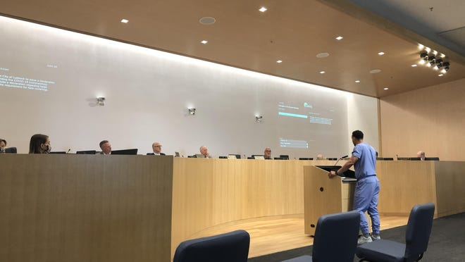 Dr. Joshua Hill, a member of the Lubbock Economic Recovery Task Force, addressed the Lubbock City Council on Friday.