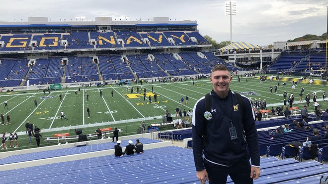 Dane Vernor will be a part of the Navy's Track and Field team next season.