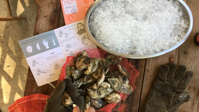 Ordering oysters for overnight delivery isn't cheap, but it's less expensive than date night at a restaurant. When you order from Island Creek Oysters, the shipment includes an oyster knife and instructions on how to open them.