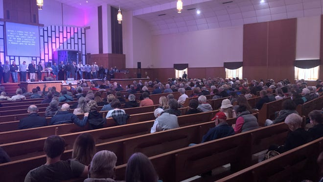 Sen. Charles Perry hosted a pro-life rally at Church of the Blessed International, located at 4810 Ave. P, on Wednesday.