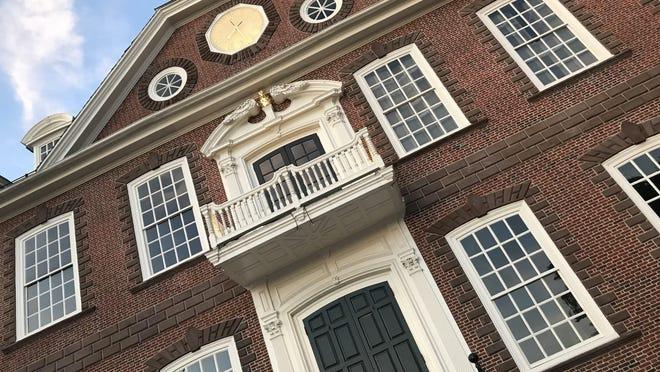 The Newport Colony House on Washington Square