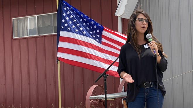 Lauren Boebert, congressional candidate for Colorado's Third Congressional District, brought her campaign to Pueblo Monday.
