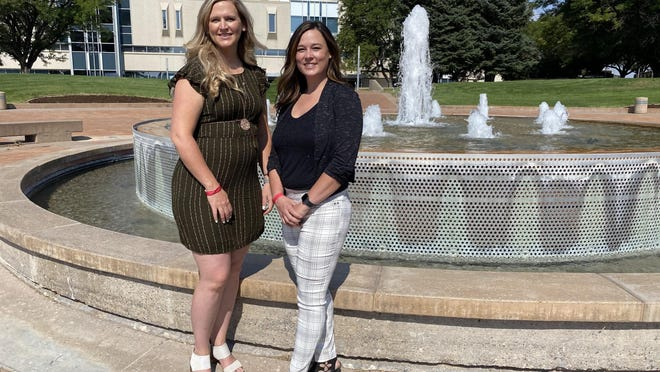Kati Foechterle and Ronda Orndoff were the first two students in the history of the CSU Pueblo to receive their doctorate degrees from the school.