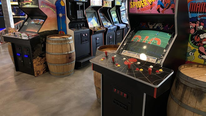 Bishop Cidercade co-owner Joel Malone says that the arcade has plenty of classic game cabinets for children of the '80s.