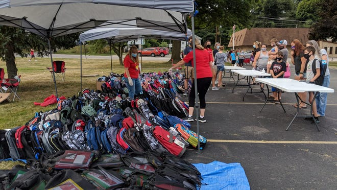 Springfield Cares once again held its annual backpack giveaway for students in the Springfield Local School District.