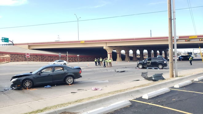 Lubbock police crash investigators on Jan. 1 closed off the intersection of Slide Road and Marsha Sharp Freeway to work a three-vehicle crash that killed a 28-year-old man.