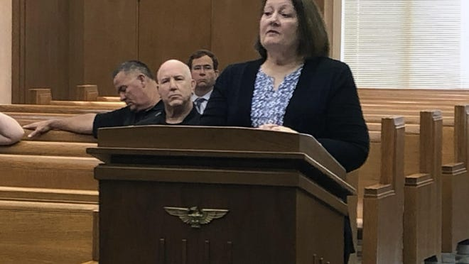 Grayson County Elections Administrator Deana Patterson addresses commissioners about CARES grant availability for elections