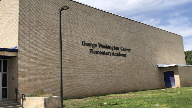 Amarillo ISD recently changed the sign for George Washington Carver Elementary Academy to signify the extension of the school's name.