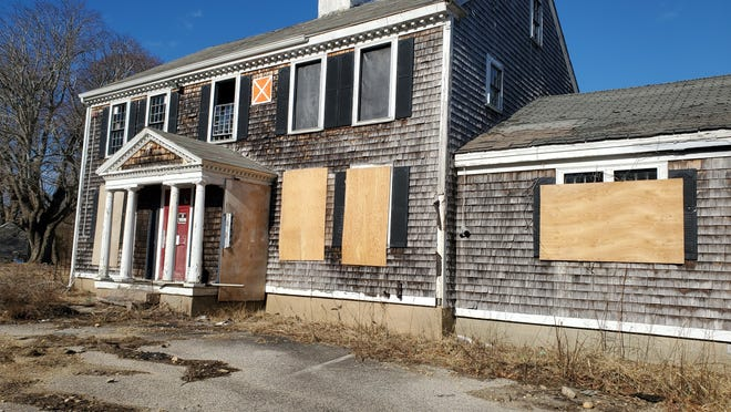 The historic Nimrod property on Dillingham Avenue in Falmouth, which dates back to the War of 1812, was torn down July 2.