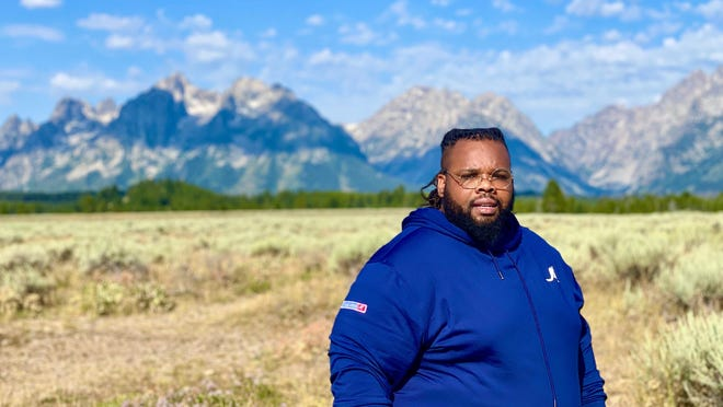 Jeff Jenkins, founder of ChubbyDiaries.com, at Grand Teton National Park. This summer, he went on a long road trip and visited multiple national parks.