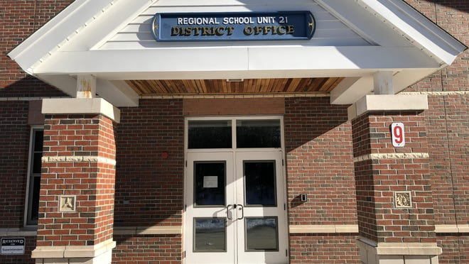 The district office for Regional School Unit 21 pictured in January 2020.