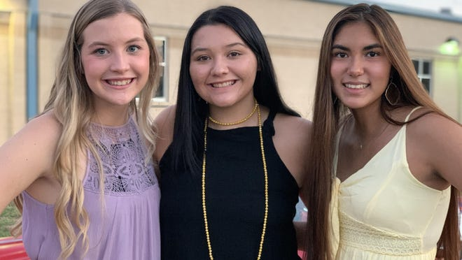 Early High School Homecoming Queen nominees are (from left) Reagan Kirby, Alexa Portillo and Deyanara DeLeon. The queen will be crowned at Longhorn Stadium Friday night during the Early-Grape Creek game.