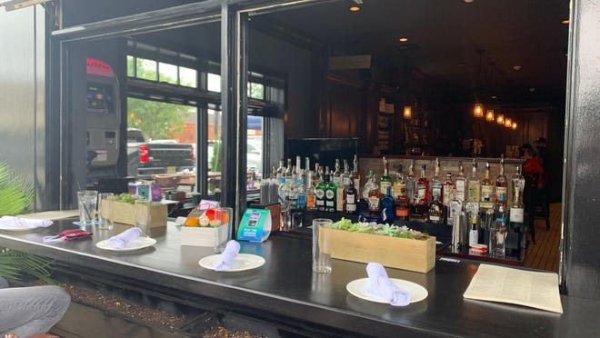 Prohibition the new gastropub in Westwood has set up an outdoor bar