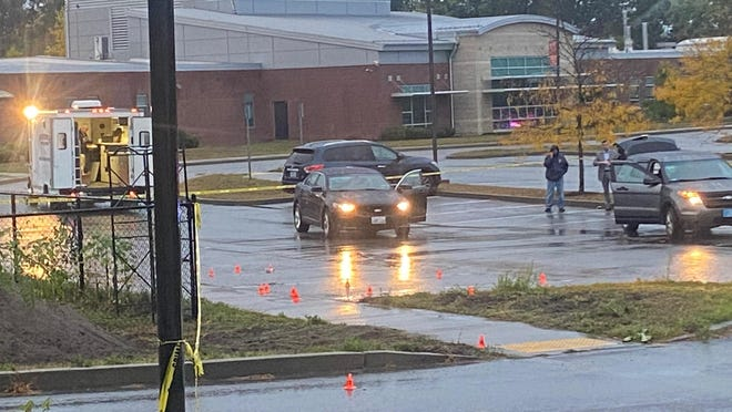 Providence, RI, Oct 13, 2020 -  Providence Police investigating a shooting in the parking lot of the RI School for the Deaf, near Corliss Park, in Providence on Tuesday evening.