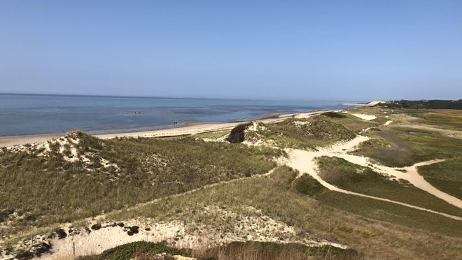 The view while walking along the Great Island Trail on Cape Cod.